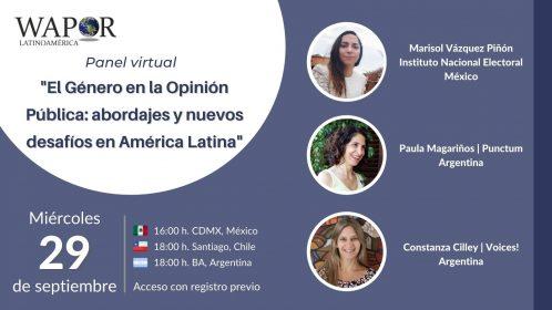 Panel: El Género en la Opinión Pública: abordajes y nuevos desafíos en América Latina